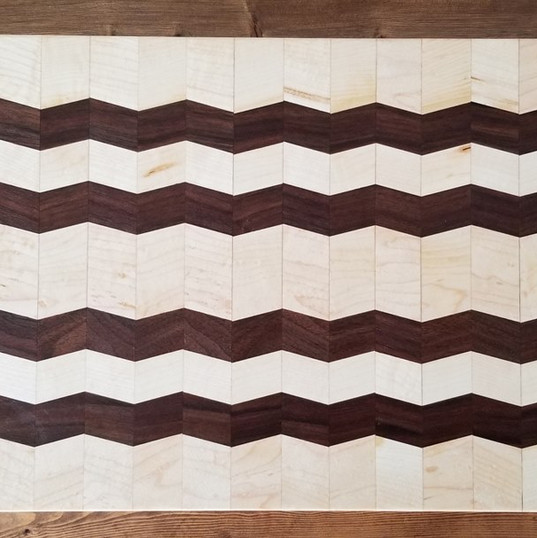 Maple and Black Walnut narrow zig zag li