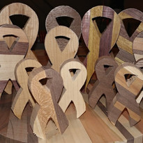 Unfinished Breast Cancer Awareness Ribbons