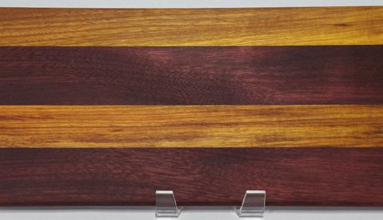 Custom Purpleheart and Canary wood face