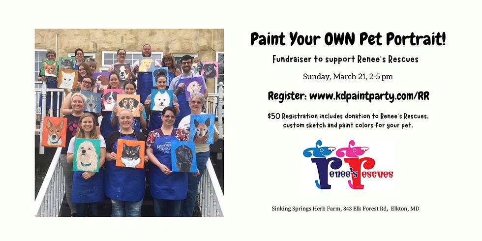 Paint Your OWN Pet Portrait Fundraiser