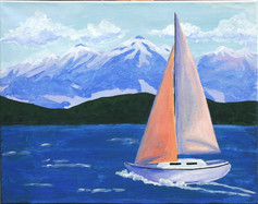 016 Sailboat with Mountains