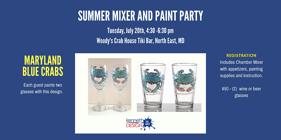 MD Crab Glass Painting with Cecil Chamber of Commerce