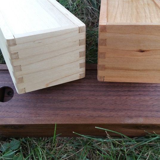 Cherry, Maple and Black Walnut Domino Set