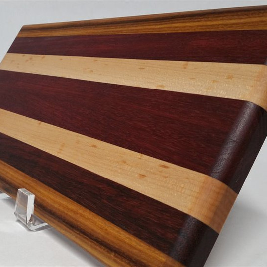Purpleheart, Canary and Maple Board