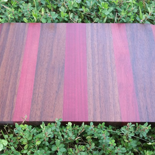 Padauk, Black Walnut and Purpleheart Board
