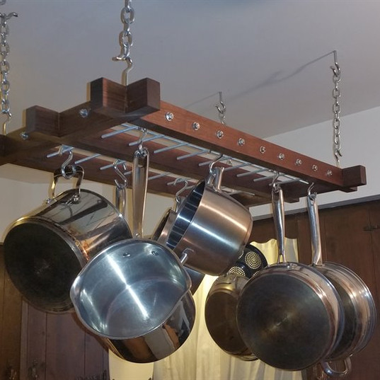 Black Walnut Pot Rack