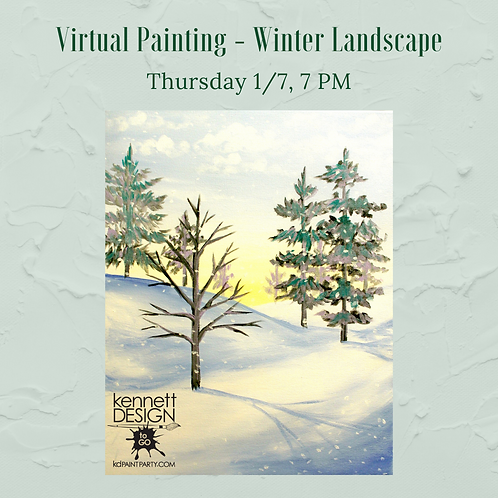 Winter Landscape - Zoom Meeting Invitation