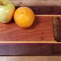Black Walnut, Purpleheart & Yellowheart Board