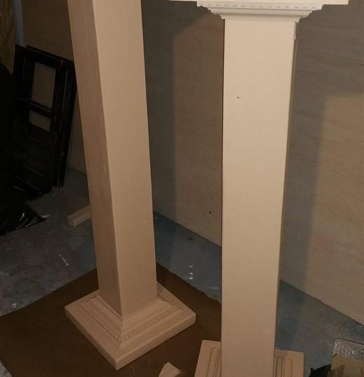 Plywood Column Plant Stands