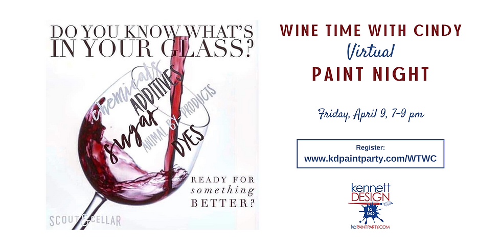 Wine Time with Cindy - Virtual Paint Night