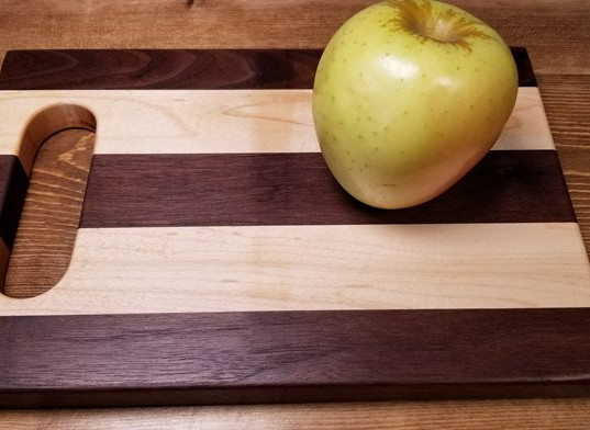 Small Maple & Black Walnut Board with Handle