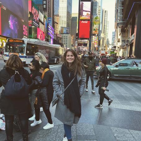 Op de valreep naar New York