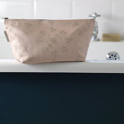 Bees in Clover Cotton Wash Bag