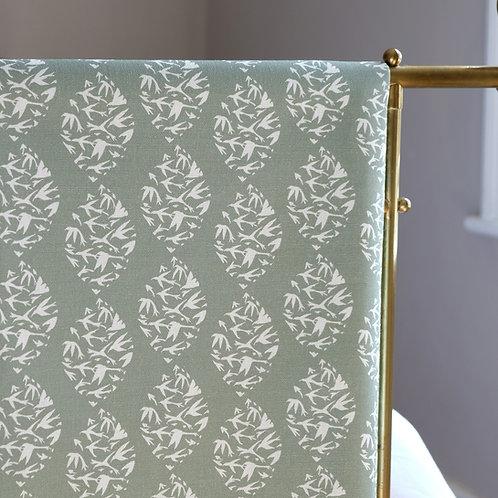 grey green linen fabric