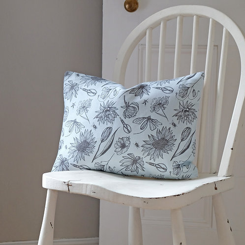 Cutting Garden Oblong Cushion in Palest Blue