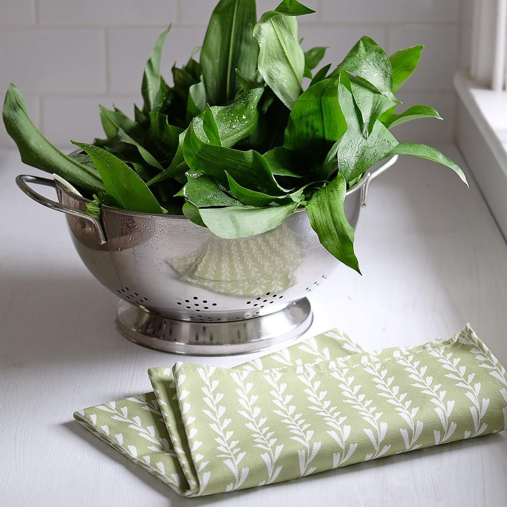Rye grass tea towel