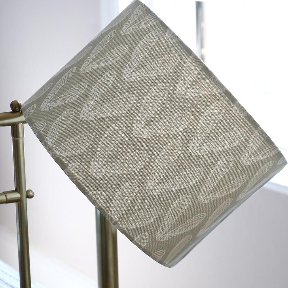 Linen lampshade in grey