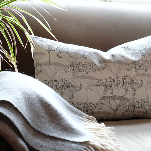 Leopards in the Acacia Large Cushion