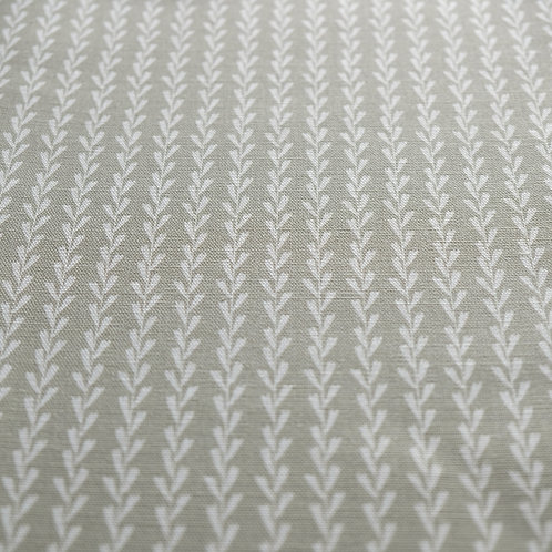 Dried sage green striped linen fabric