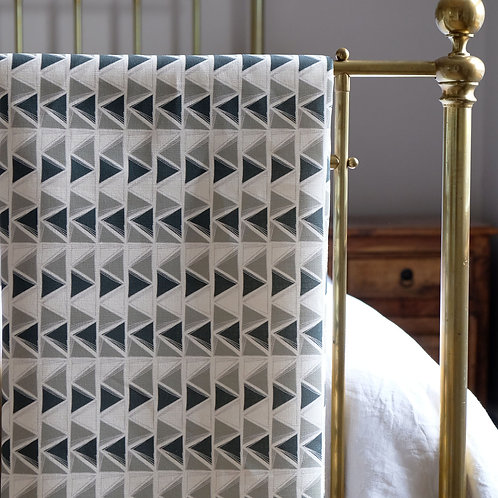 Mirage, Eucalyptus and Teal Linen Fabric