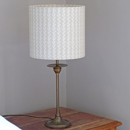 Light Pink Striped Fabric Lampshade