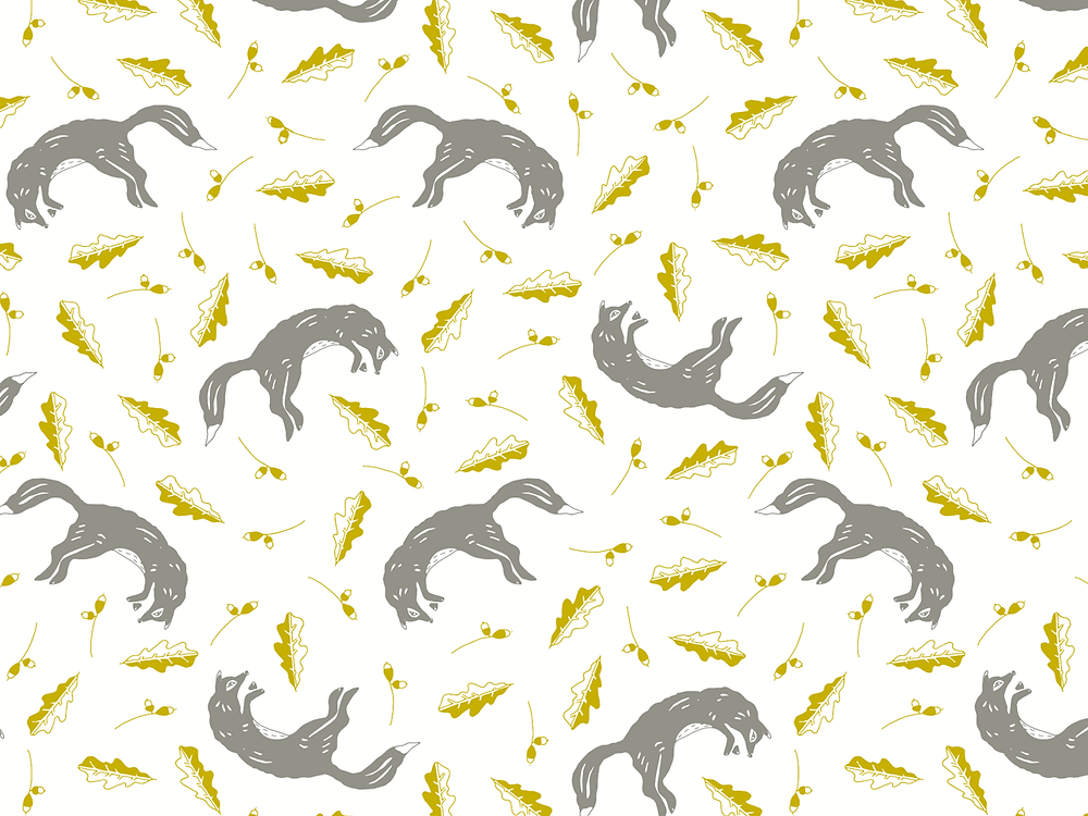Spring Fox pattern coming soon on tea towels, oven gloves & more