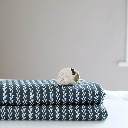 Dark blue fabric for blinds and curtains