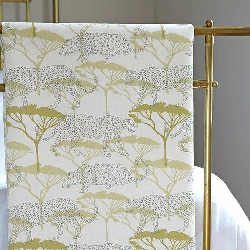 Leopard print linen fabric