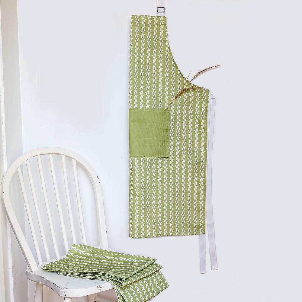 rye grass cotton apron
