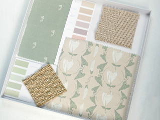 Pink & green fabric scheme
