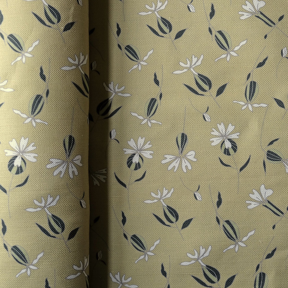 White Campion Fabric, Fields of Gold
