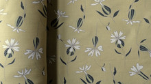 New fabric by the metre: white campion