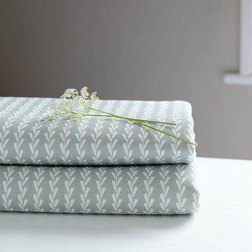 light blue striped curtain fabric