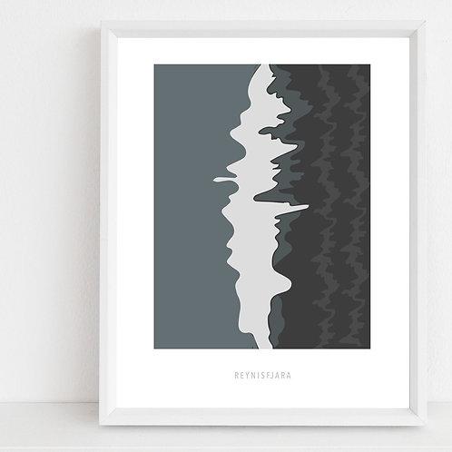 Reynisfjara, Art Print A2