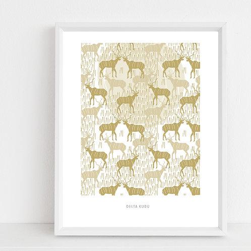 Delta Kudu, Art Print A2
