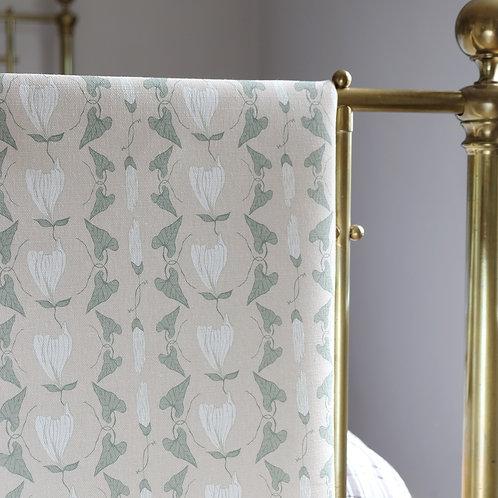 Light pink curtain fabric