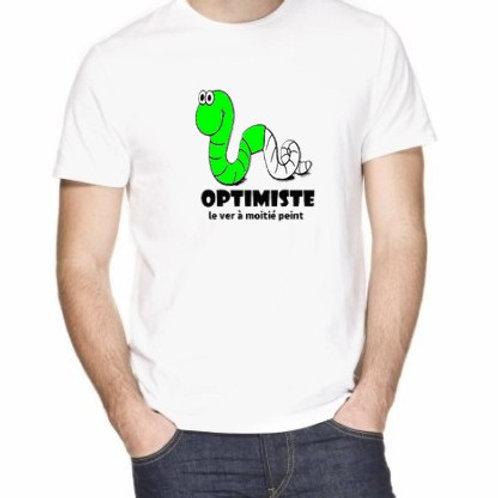 verre de l'optimiste ou le ver ...
