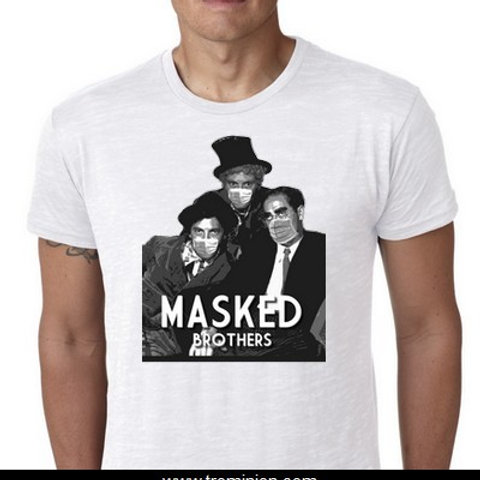 MASKED BROTHERS tee shirt Marx brothers masked