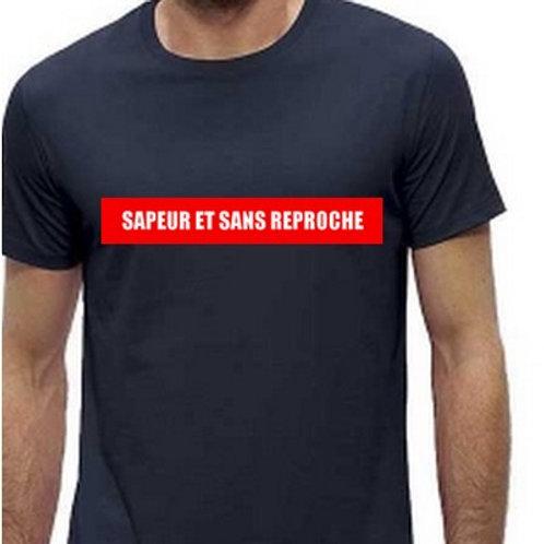 tee shirt pompier humour et detecteur de fumée