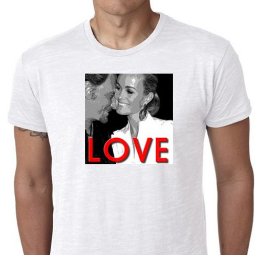 laeticia hallyday  love tee shirt