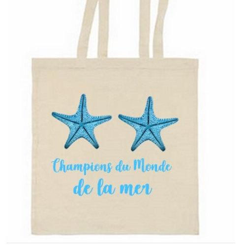 TOTE BAG CHAMPIONS DU MONDE DE LA MER