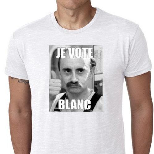 je vote blanc le tee shirt