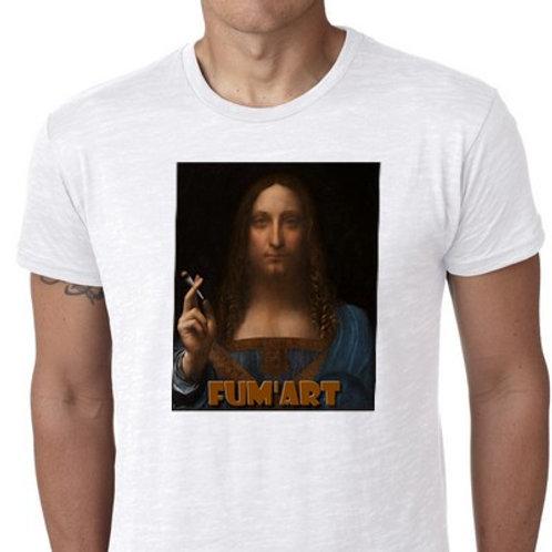 salvator mundi fum'art tee shirt