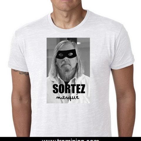 SORTEZ masqué tee shirt Raoult