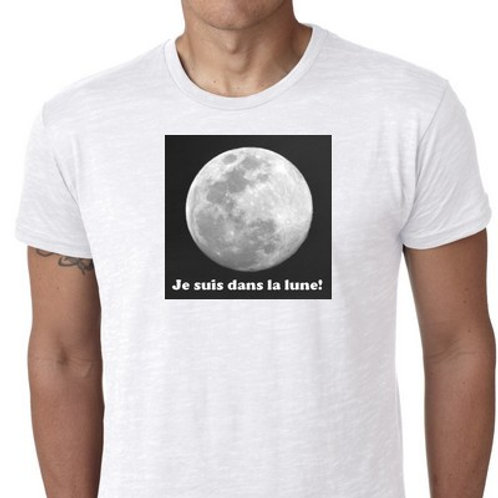 je suis dans la lune tshirt