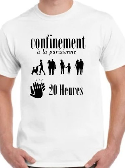 Confinement à la parisienne tshirt