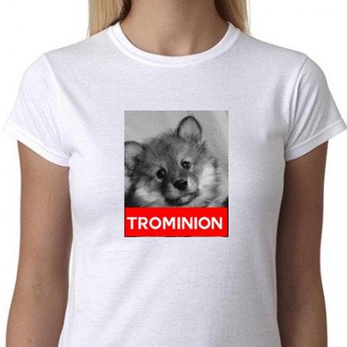 chien finnois trominion tee shirt