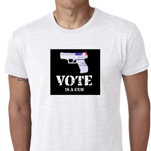 VOTE IS A GUN