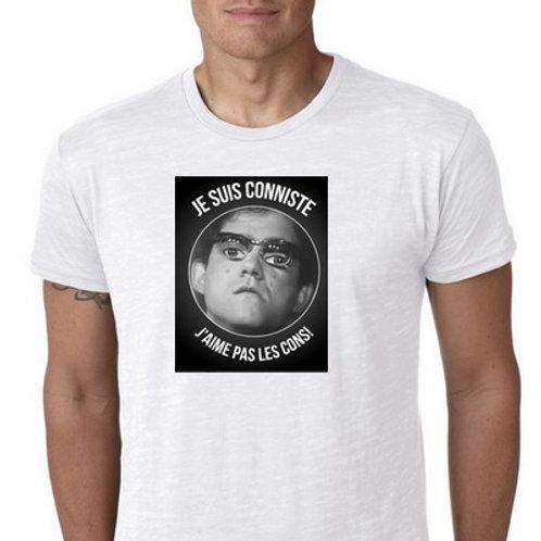 Je Suis Conniste j'aime pas les cons tee shirt