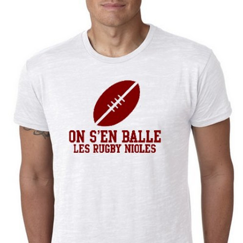 """on s""""en balle les rugby nioles tee shirt"""